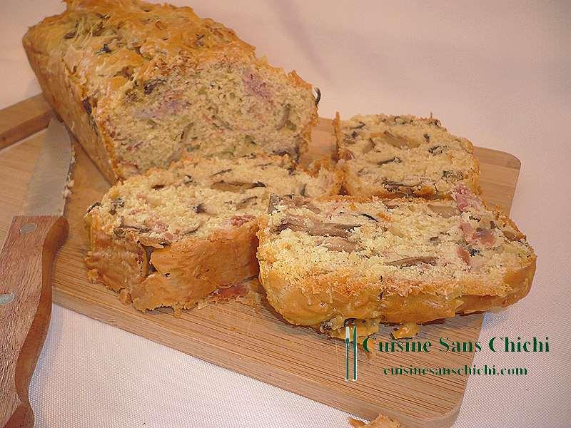 Cake au jambon cru et champignons de Paris pour l'apéritif ou un déjeuner Les recettes de ...