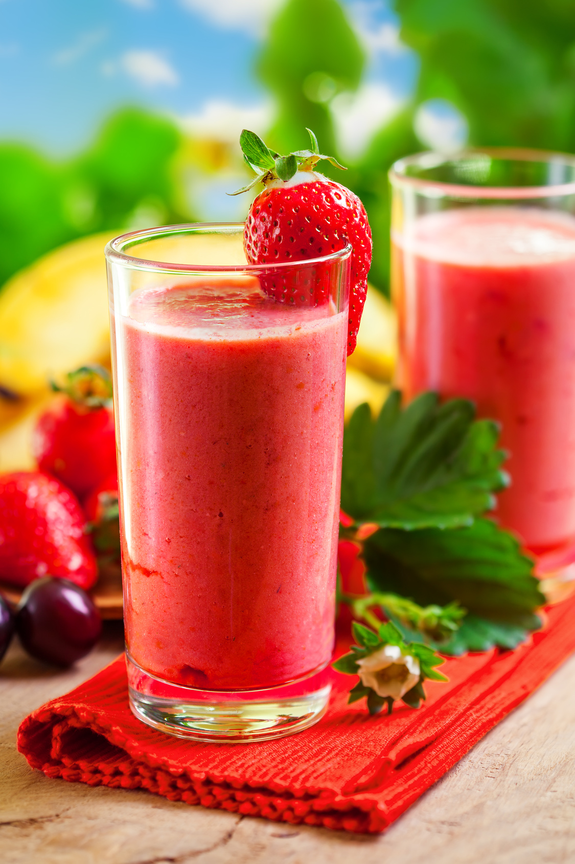 smoothie recette banane fraise)