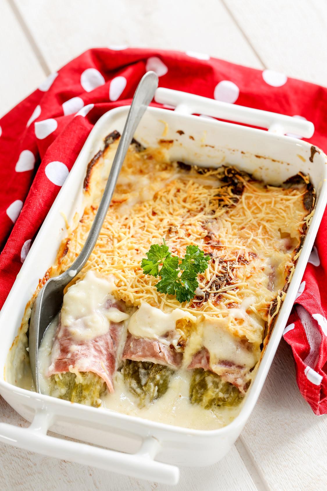 Recette endive au jambon en gratin b chamel gruy re rap for Noix de muscade cuisine