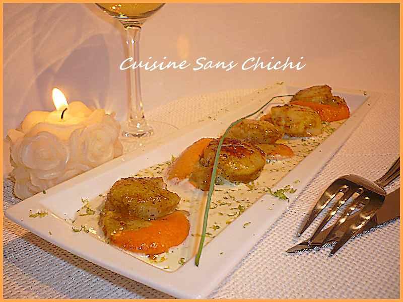 Noix de saint jacques au curry sauce citron vert une succulente recette simple et rapide - Saint jacques au curry ...