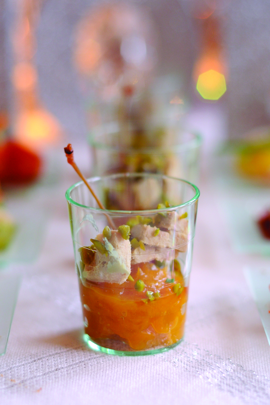 Verrines de foie gras et chutney de mangue un d lice d for Amuse bouche foie gras aperitif